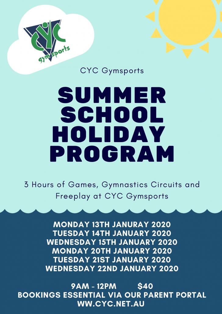 2020 Summer School Holiday Program